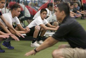 Jesus instructing squats