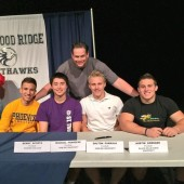 Five athletes sign national letters-of-intent